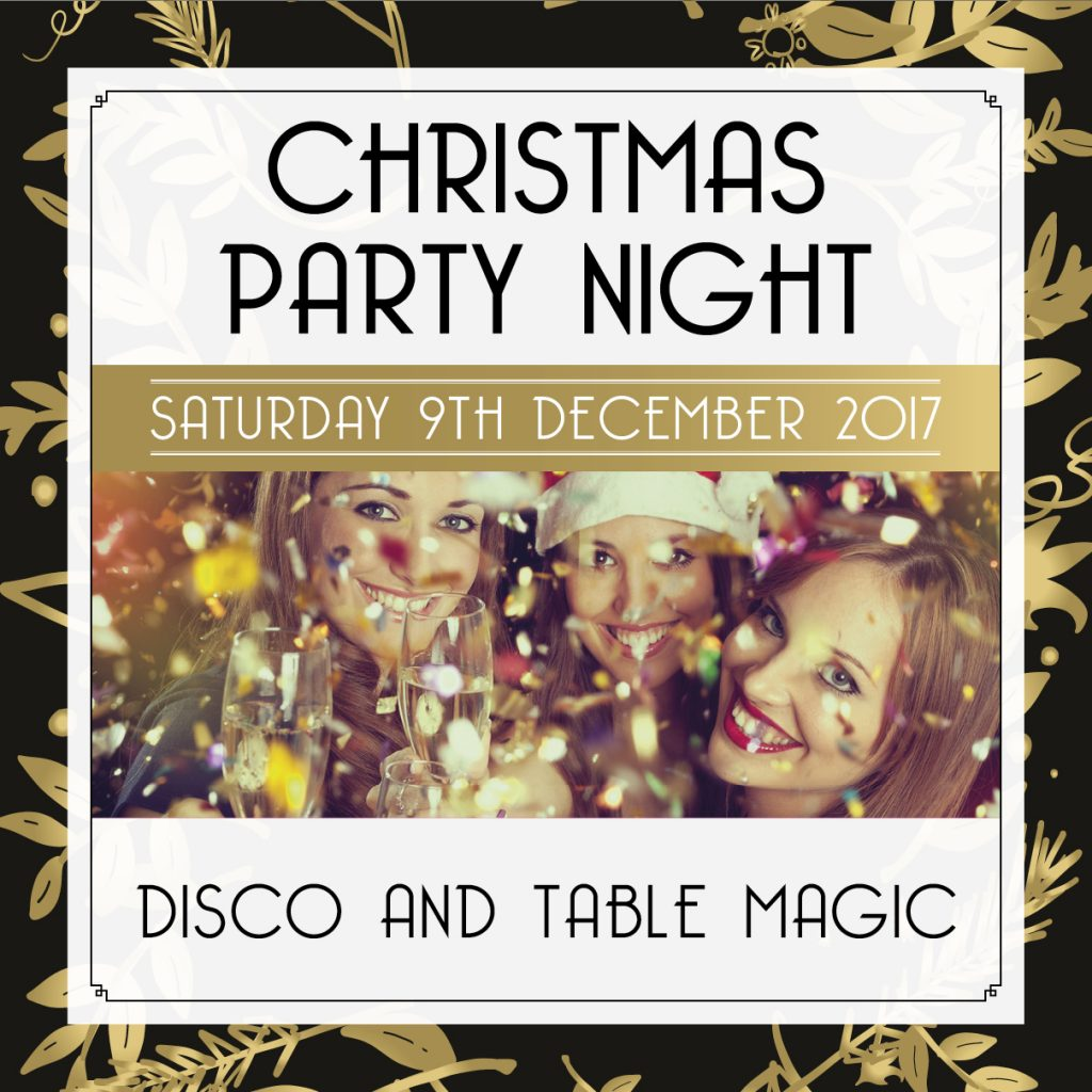 the holbrook club christmas party poster
