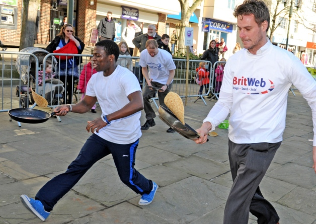 BritWeb at the pancake charity race 2013