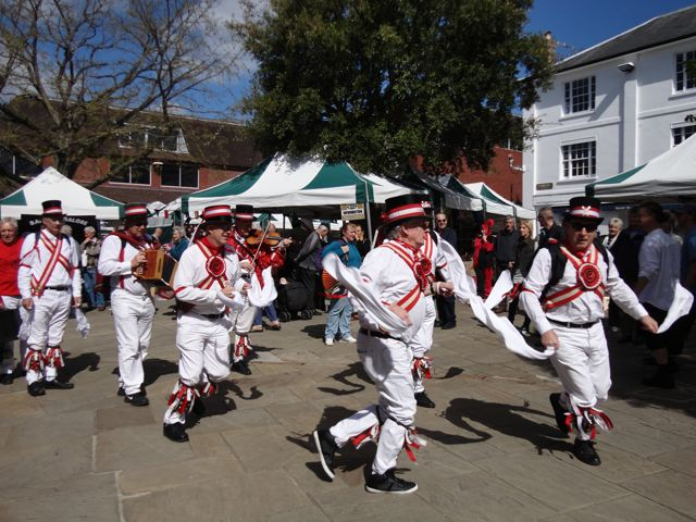 Morris dancing and medieval market Horsham