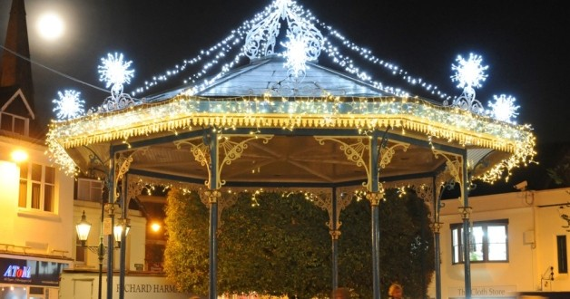 Bandstand in Horsham at Christmas