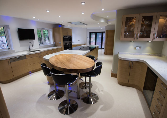 Modern Oak kitchen designed in Storrington