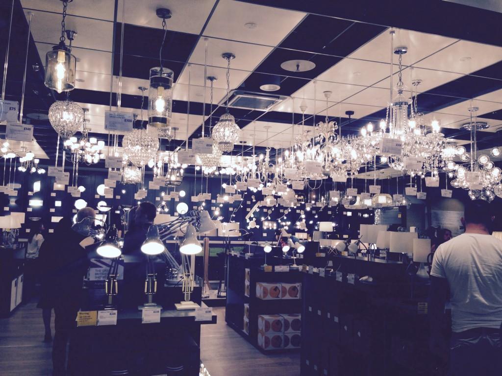 lighting section John Lewis