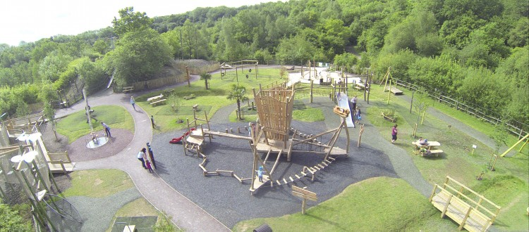 southwater dinosaur park birds-eye view