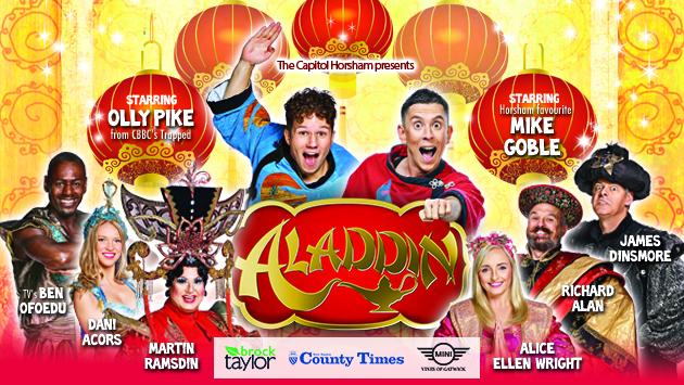aladdin pantomime in Horsham