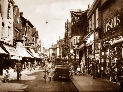 west street horsham 1920s