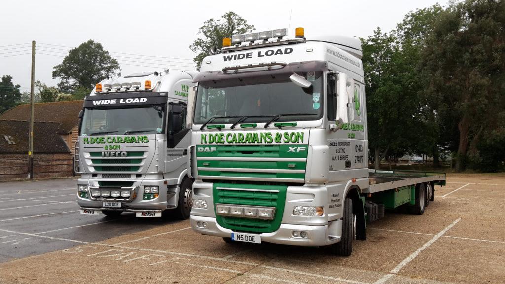 Static Caravan Transport Trucks
