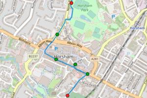 Horsham Children's Parade Route